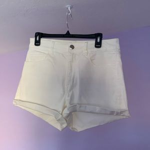 Women's American Eagle White High-Waisted Shorts